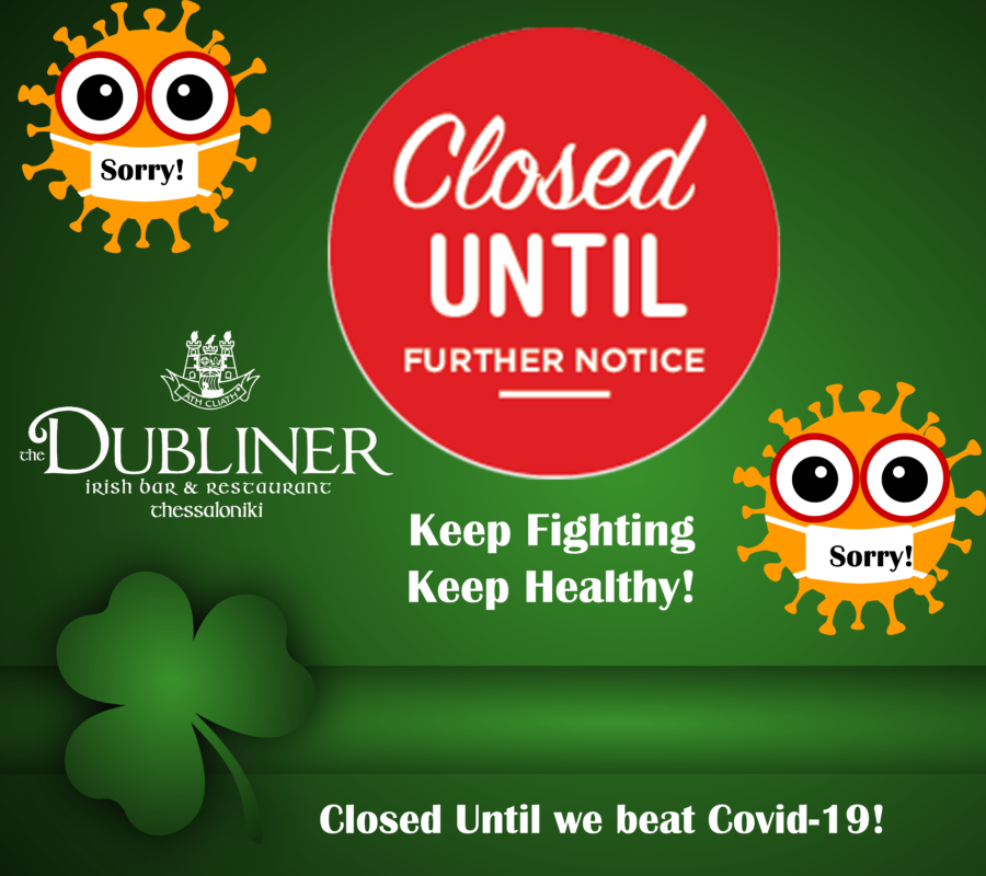Closed Until Further Notice – Covid-19